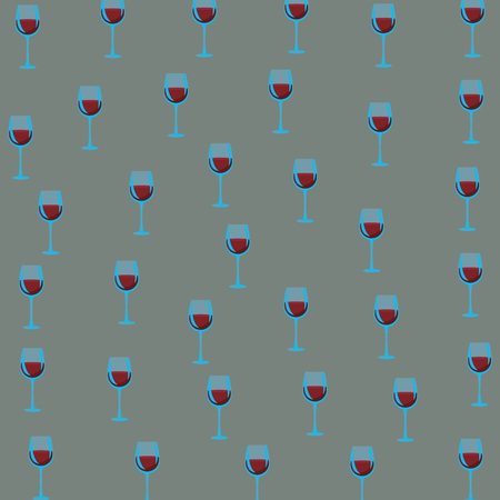 Wine cups background pattern vector illustration graphic design
