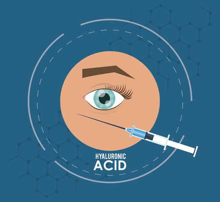 hyaluronic acid filler for dark circles under eyes flyer vector illustration graphic design
