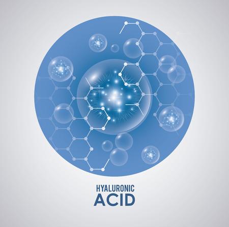 kwas hialuronowy wypełniacz infraphic plakat wektor ilustracja projekt graficzny Ilustracje wektorowe