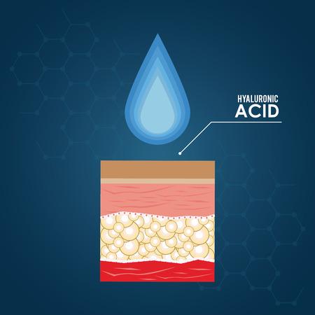 hyaluronic acid filler injection infographic flyer vector illustration graphic design Vector Illustration