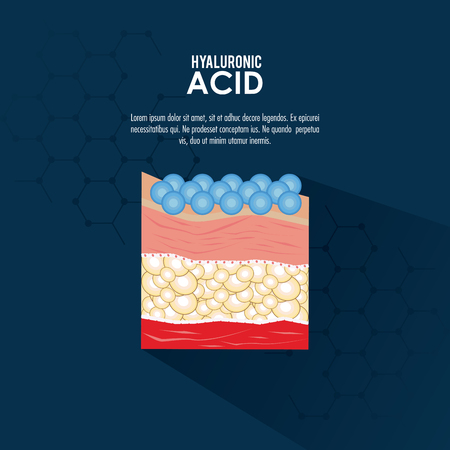 hyaluronic acid filler injection infraphic poster vector illustration graphic design