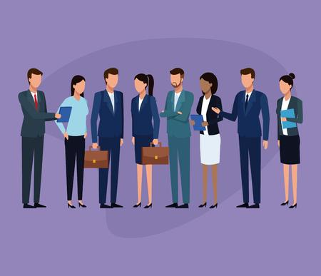 Koledzy biznesowi omawianie pracy w biurze projektowania graficznego ilustracji wektorowych