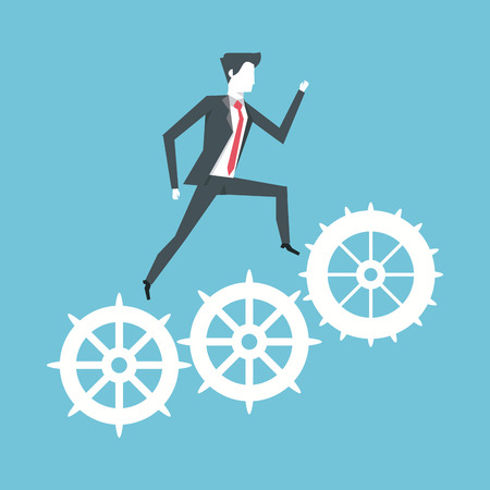 Business leader reaching success vector illustration graphic design vector illustration graphic design
