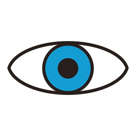 Surveillance eye symbol vector illustration graphic design