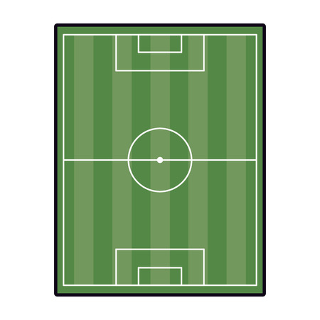 Soccer camp field topview vector illustration graphic design