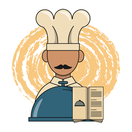 chef cook and food items vector illustration graphic design