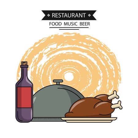 restaurant etenswaren en eetgerei vector illustratie grafisch ontwerp