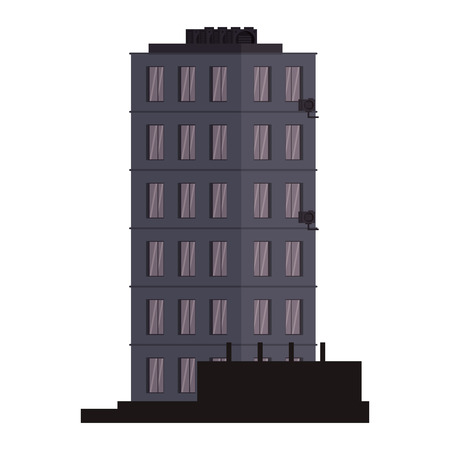 City building tower isolated vector illustration graphic design Ilustração