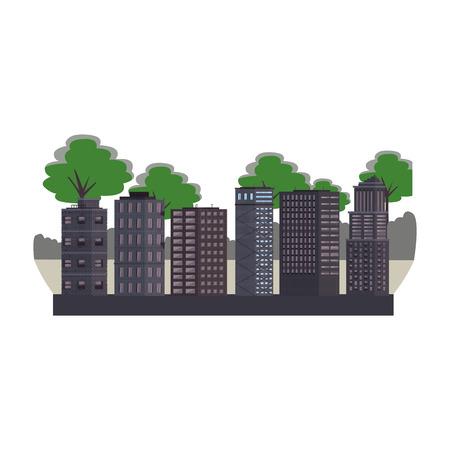 Stadtgebäude Landschaft isoliert Vektor-Illustration-Grafik-Design Vektorgrafik
