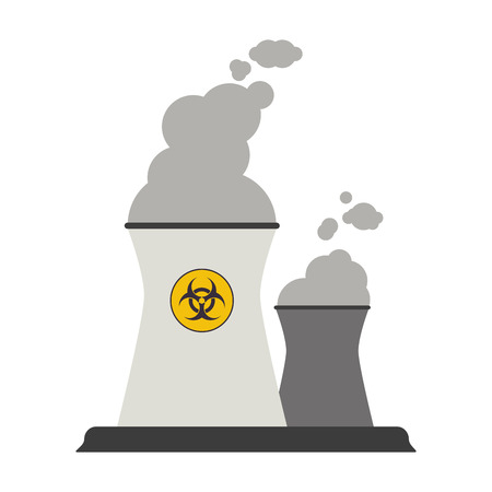 Nuclear plants symbol isolated vector illustration graphic design