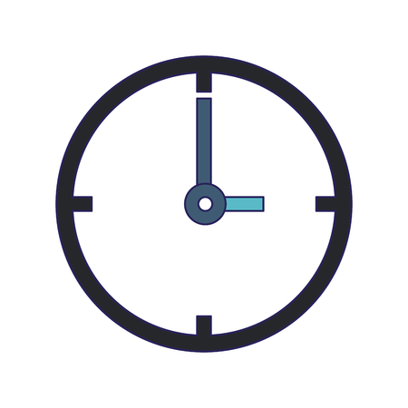 Round clock symbol isolated vector illustration graphic design