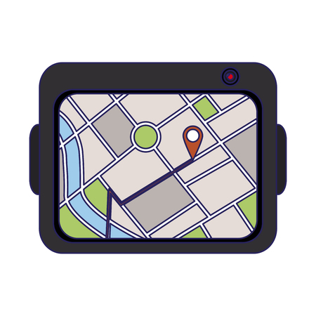 Gps tracking system device vector illustration graphic design Vectores