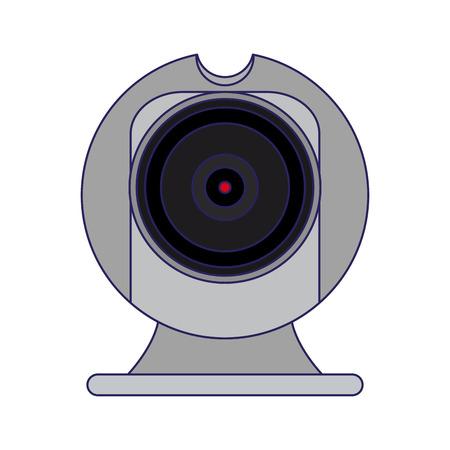 Webcam chat technology device vector illustration graphic design