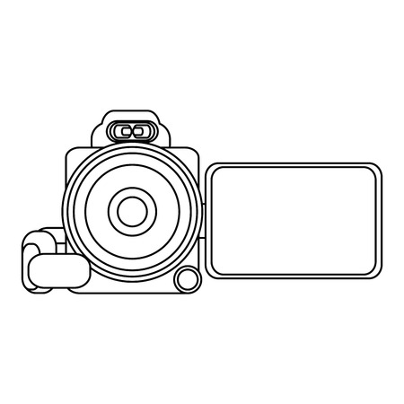 Film camera technology device vector illustration graphic design Illustration