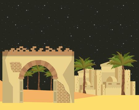 manger traditional scene isolated vector vector illustration graphic design Illustration