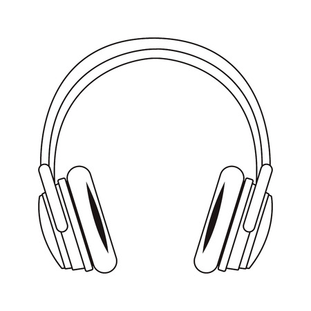 music headphone cartoon vector illustration graphic design