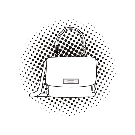 pop art woman stylish handbag cartoon vector illustration graphic design Illustration