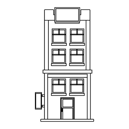 apartments building cartoon vector illustration graphic design