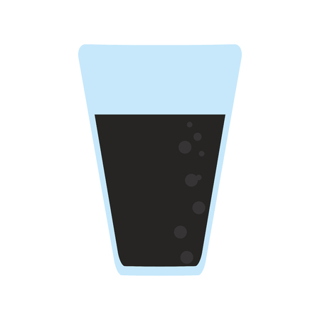 Soda glass cup isolated vector illustration graphic design