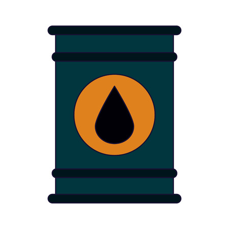 Oil barrel with drop label icon vector illustration graphic design Ilustrace