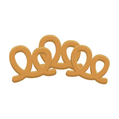 Pretzel german snacks vector illustration graphic design Vettoriali