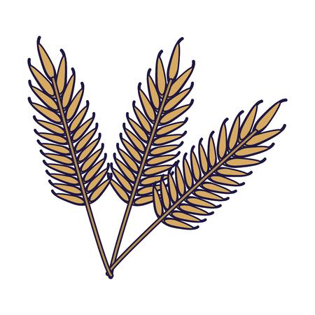 Wheat food symbol vector illustration graphic design Illustration