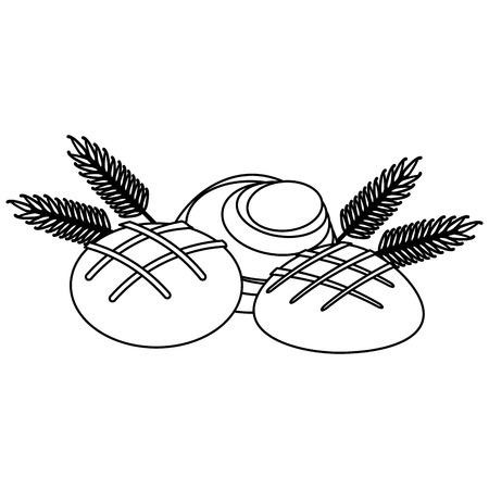 Set of wheat breads vector illustration graphic design Illustration