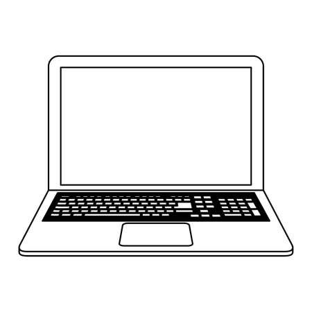 Ordinateur portable technologie informatique vector illustration graphisme
