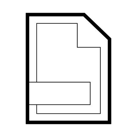 Sheet bent corner document vector illustration graphic design