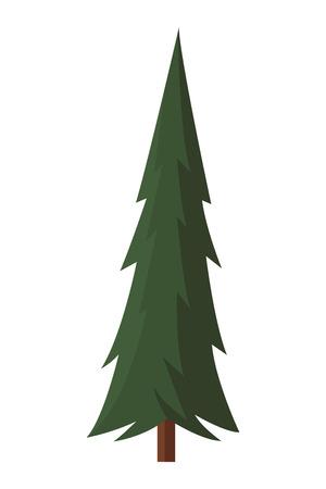 Tree nature landscape cartoon vector illustration graphic design Stock Illustratie