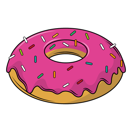 Donut dessert cartoons vector illustration graphic design