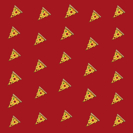 Pizza italian food background pattern vector illustration graphic design