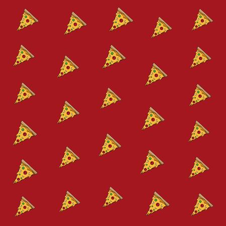 Pizza italienisches Essen Hintergrundmuster-Vektor-Illustration-Grafik-Design Vektorgrafik