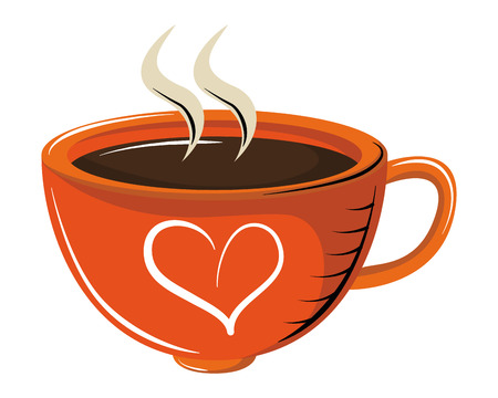 Coffee cup with aroma vector illustration graphic design