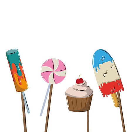 Booth prop party and fashion elements vector illustration graphic design
