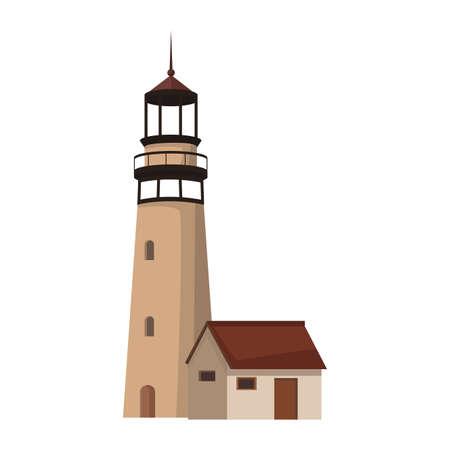 Lighthouse navigation building vector illustration graphic design