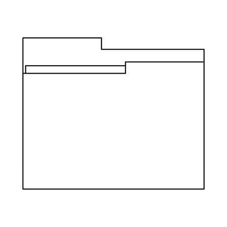 Folder document symbol vector illustration graphic design Stock Illustratie