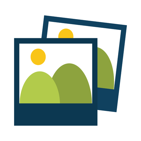 Landscape photos symbol vector illustration graphic design