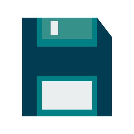 Diskette save symbol vector illustration graphic design