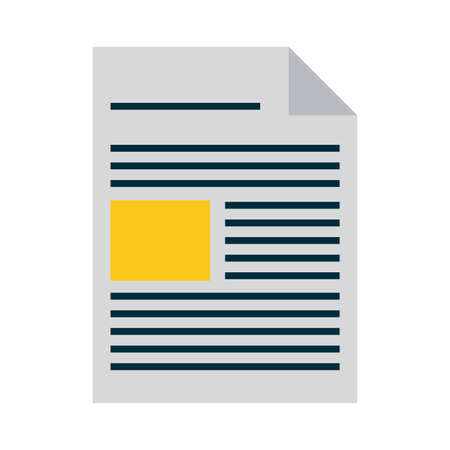 document sheet bent corner vector illustration graphic design