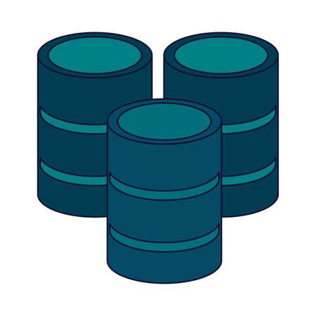 Database storage disks vector illustration graphic design Illustration