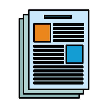 Document sheet symbol vector illustration graphic design Ilustração