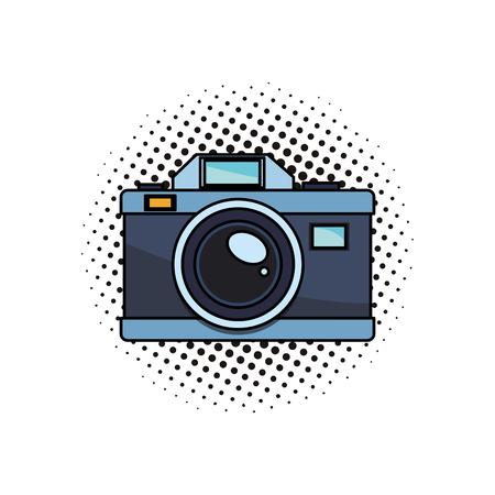 Vintage photographic camera vector illustration graphic design pop art