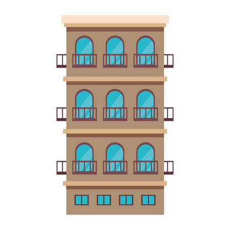 Residential building isolated vector illustration graphic design