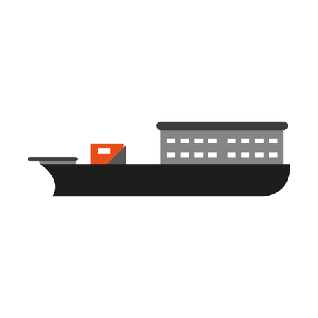 Freighter ship boat isolated vector illustration graphic design Standard-Bild - 127555545