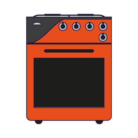 Stove kitchen appliance technology vector illustration graphic design