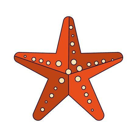 Diseño gráfico aislado del ejemplo del vector de la historieta de la estrella de mar