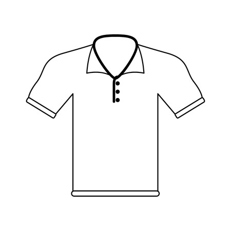 Male golf shirt vector illustration graphic design