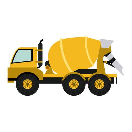 Cemet truck construction vehicle vector illustration graphic design Illustration