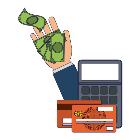 payment and money transfer with credit card vector illustration graphic design